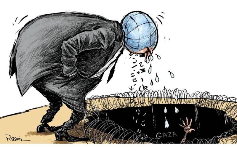 Amjad Rasmi'den 'güçlü karikatürler': Arap sokağı ve Orta 6