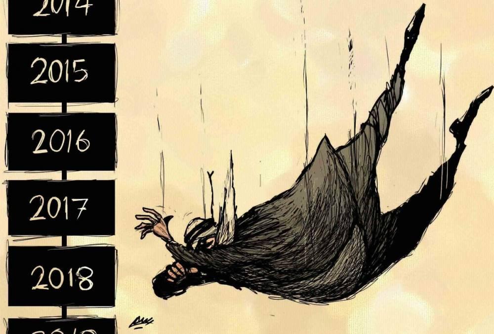 Amjad Rasmi'den 'güçlü karikatürler': Arap sokağı ve Orta 9