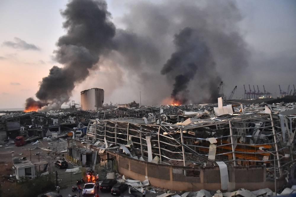Beyrut'taki patlamanın dehşet verici kareleri 11