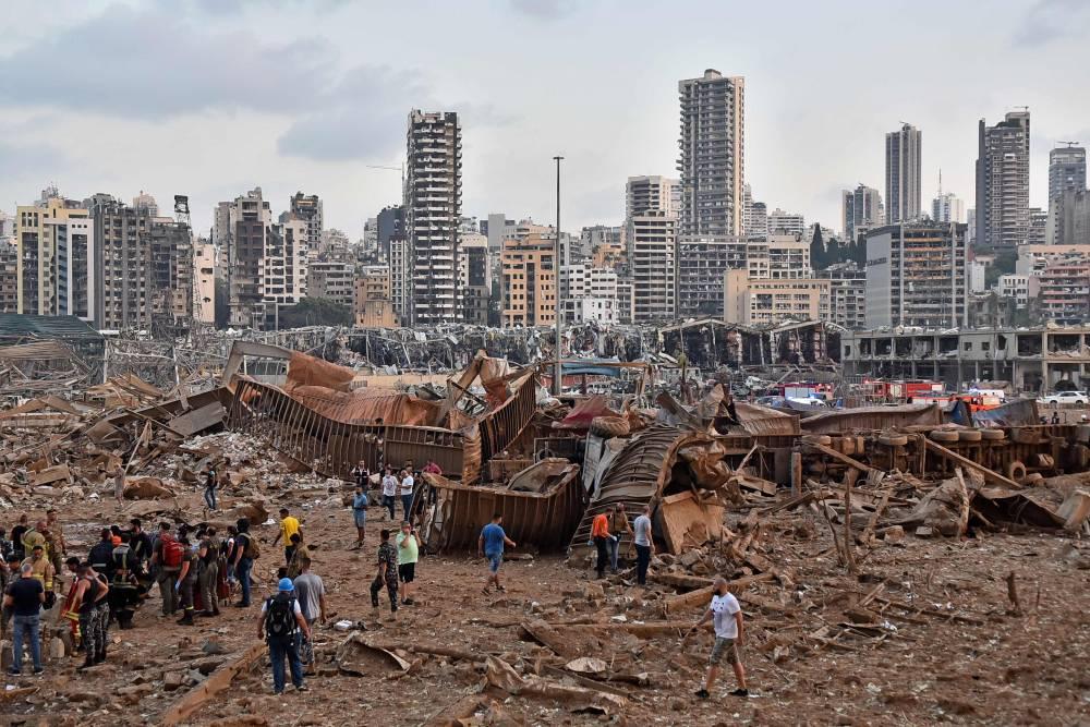 Beyrut'taki patlamanın dehşet verici kareleri 13