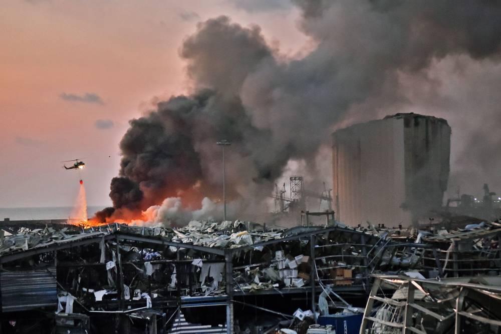 Beyrut'taki patlamanın dehşet verici kareleri 15