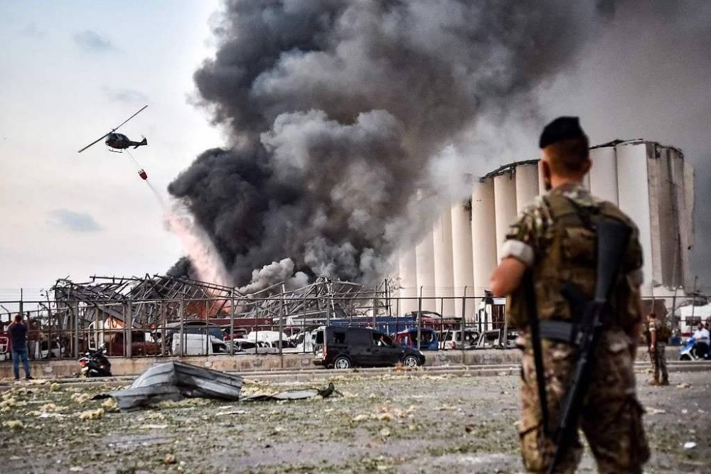 Beyrut'taki patlamanın dehşet verici kareleri 6