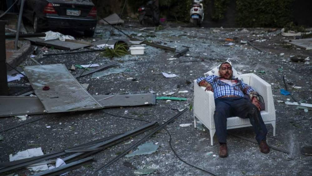 Beyrut'taki patlamanın dehşet verici kareleri 8