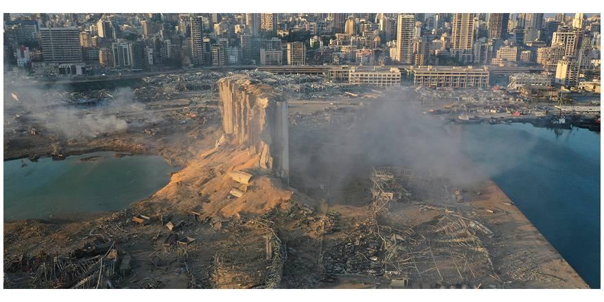 Beyrut'taki patlamanın dehşet verici kareleri
