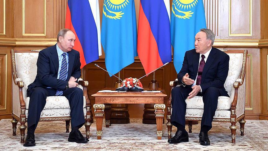 Putin ile Nazarbayev Rusya'da bir araya geldi
