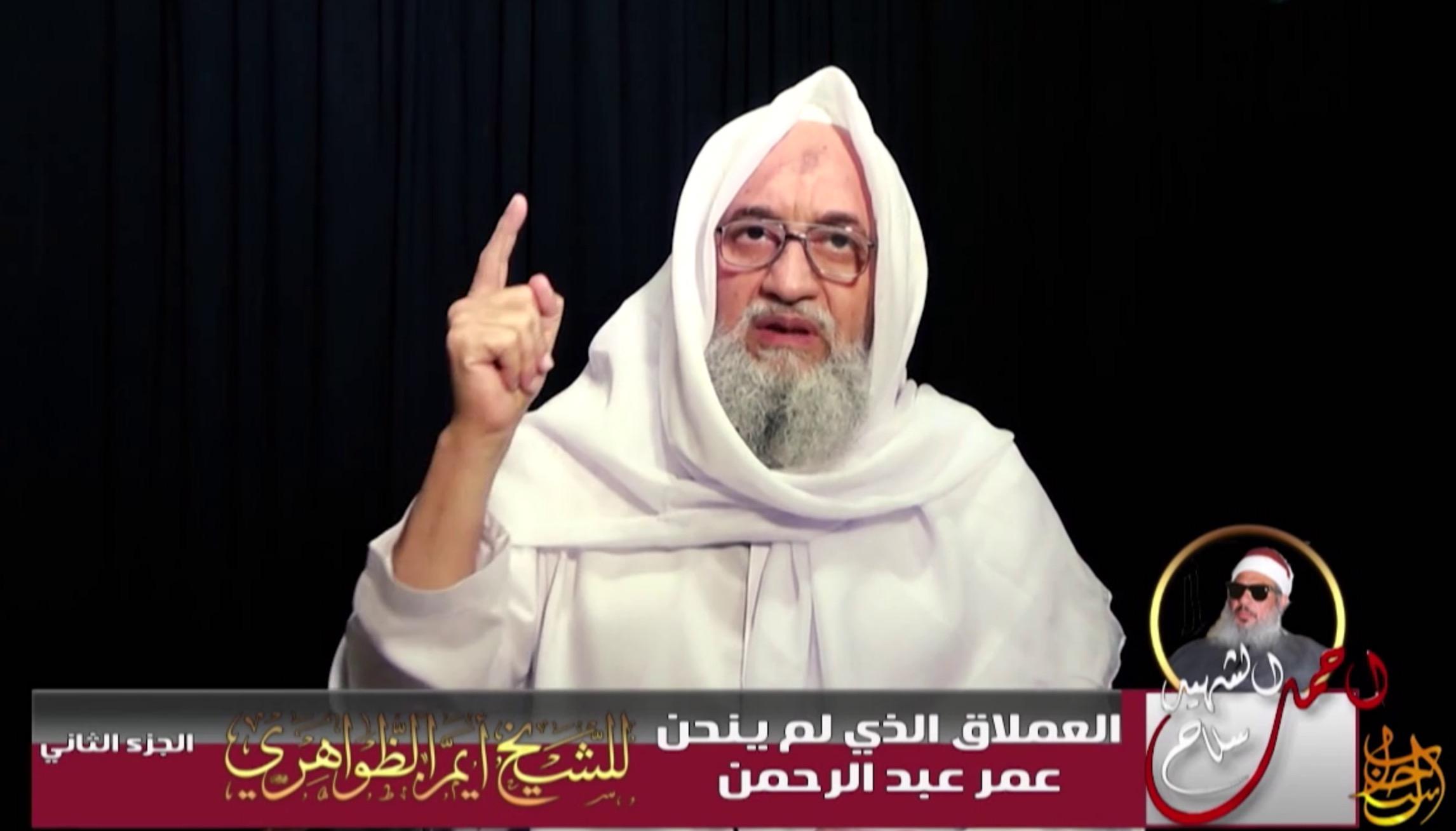 El Kaide lideri Zevahiri'den yeni video: Şeytani koalisyonu hedef alın