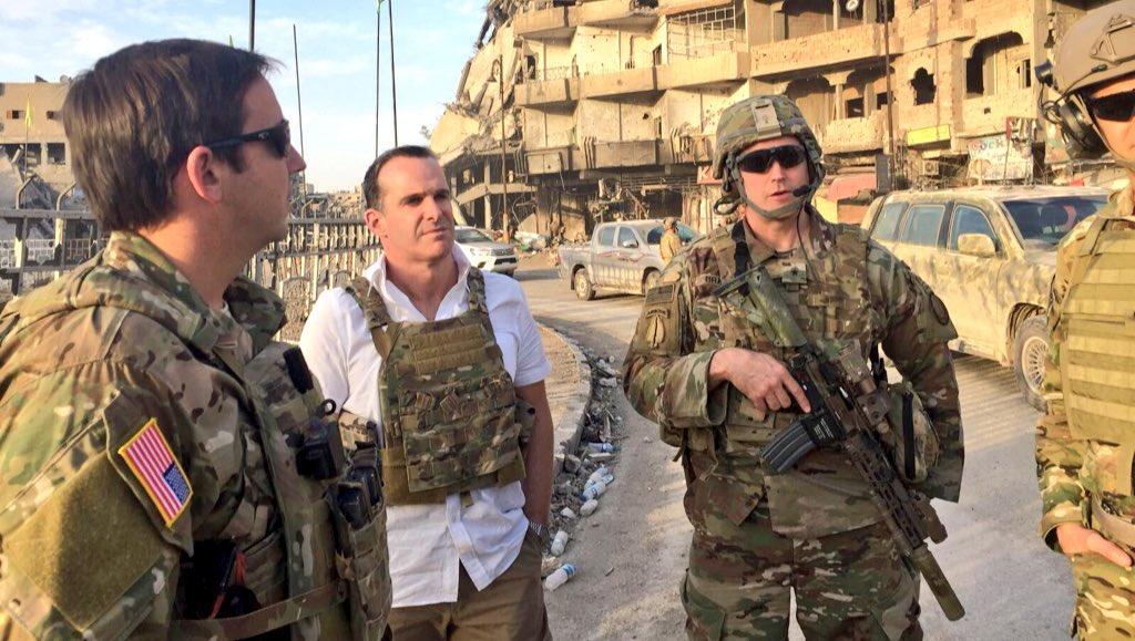 Trump'ın özel temsilcisi, PKK kontrolündeki Rakka'yı ziyaret etti