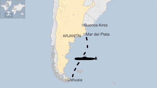 Kayıp Arjantin askeri denizaltısından sinyal alındı