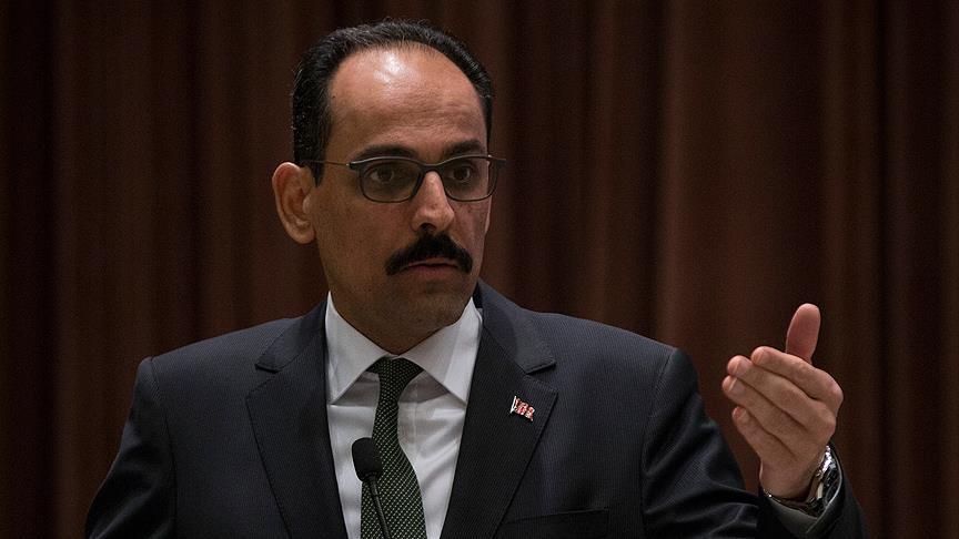 Cumhurbaşkanlığı Sözcüsü: İlk kıblemizi işgal devletinin başkenti yapamazlar