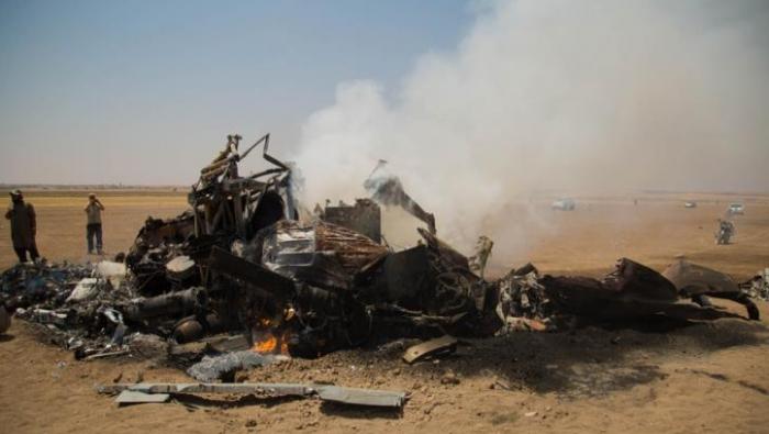 Hama'da Rus helikopteri düştü