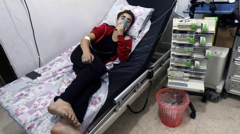 Halep'te Zehirli Gaz Saldırısı