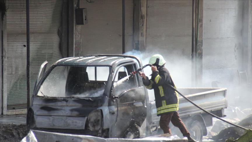 Suriye'nin Türkiye Sınırında Patlama