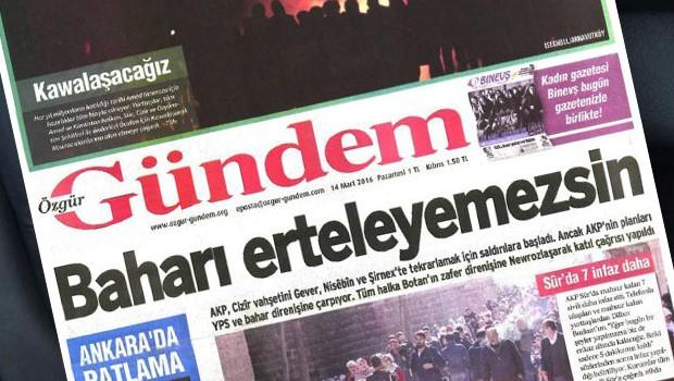 Özgür Gündem Gazetesine Polis Baskını
