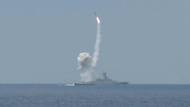 Rusya Akdeniz'den Suriye'yi Vurdu