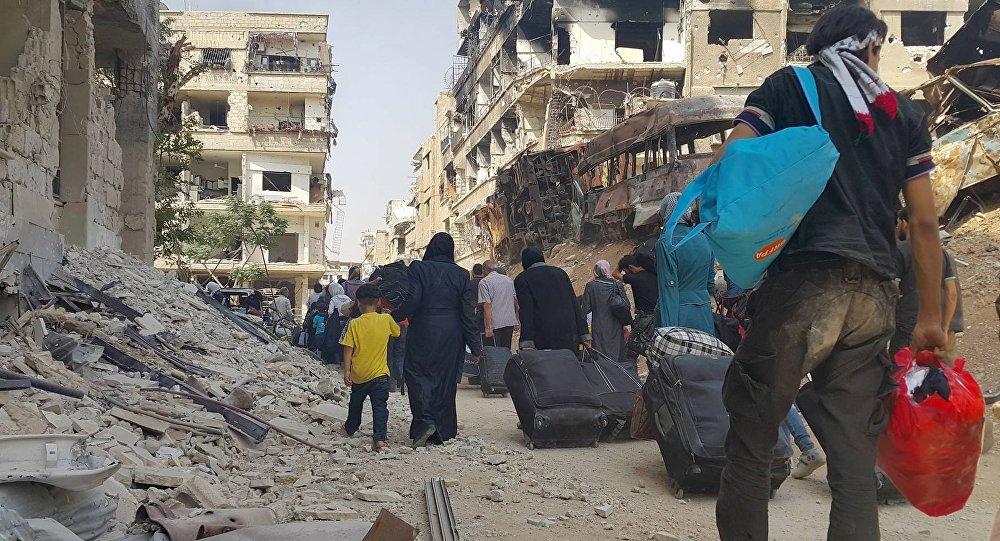 Deraya'yı Terk Eden İlk Grup Hama'ya Ulaştı