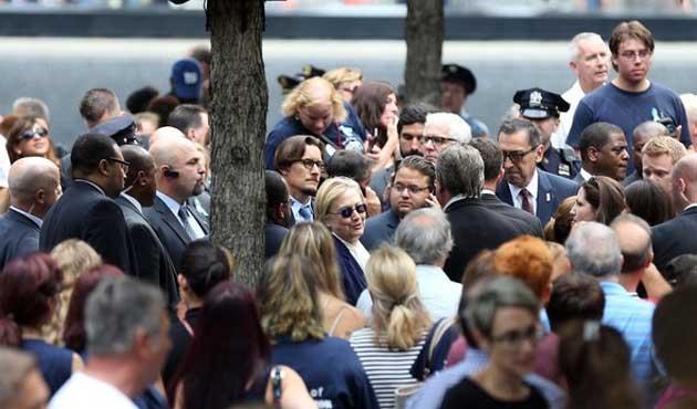 11 Eylül töreninde rahatsızlanan Clinton'dan açıklama