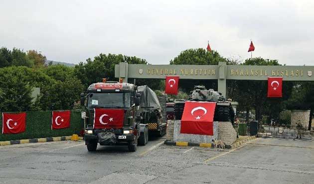 Gaziantep'e askeri sevkiyat devam ediyor