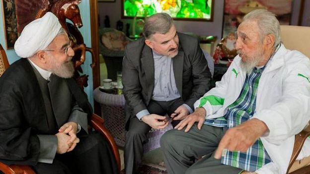 Ruhani, Castro'yu ziyaret etti