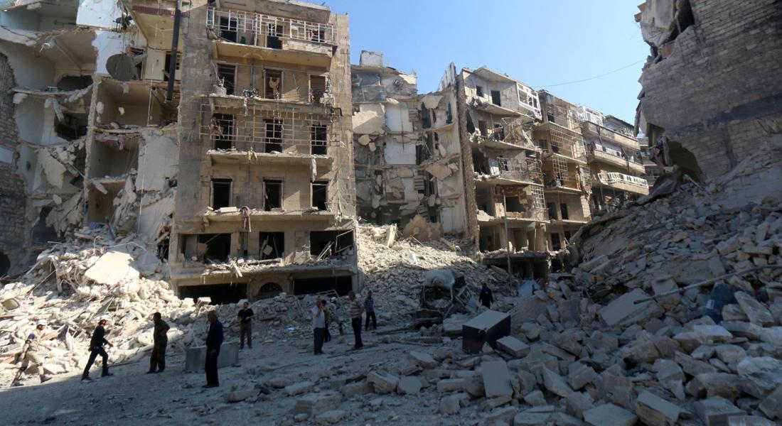 Halep ağır şekilde bombalanıyor