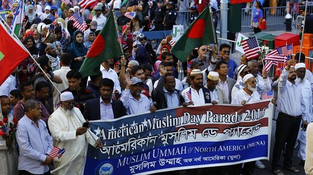 New York'ta 'Müslüman Günü' yürüyüşü