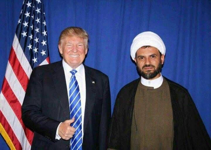 Trump'ın yanında bir Şii lider