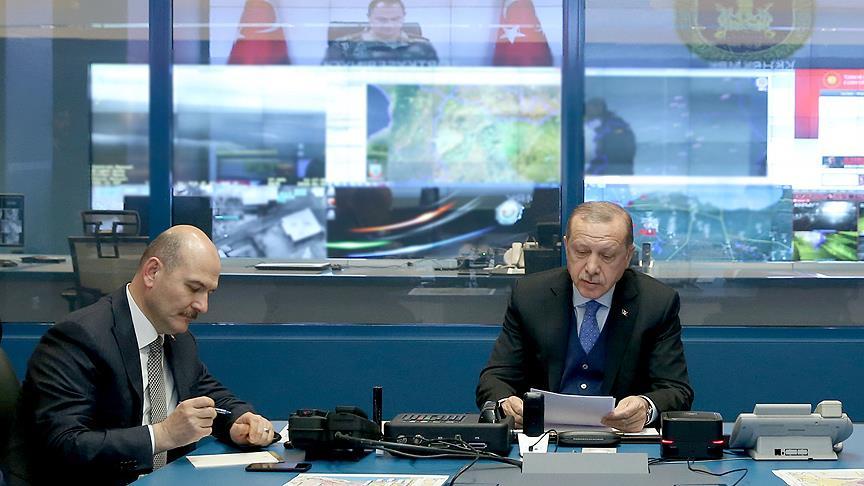 Başkomutan Erdoğan Afrin operasyonunun başında