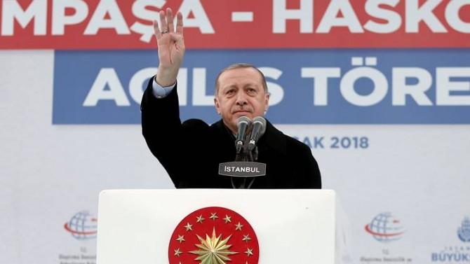 Erdoğan ABD'ye yüklendi: DEAŞ yok ama silah yığmaya devam ediyorlar