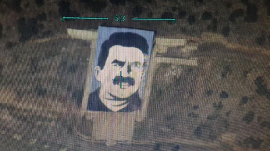 Afrin'deki 'Öcalan Anıtı' imha edildi
