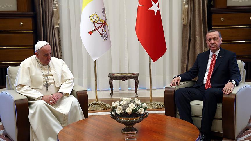 Cumhurbaşkanı Erdoğan, Vatikan'da 'Kudüs' meselesini ele alacak