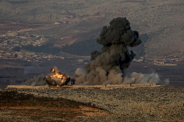 Zeytin Dalı Harekatı: Hava ve kara bombardımanı tüm şiddetiyle sürüyor