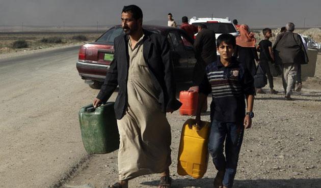 Musul'da 16 bin sivil yerinden oldu