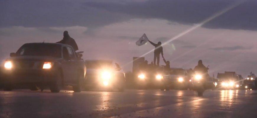 Tahriru'ş Şam'dan dev askeri konvoyla gövde gösterisi