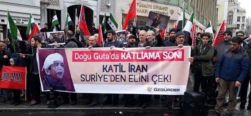 Özgür-Der'den Doğu Guta protestosu