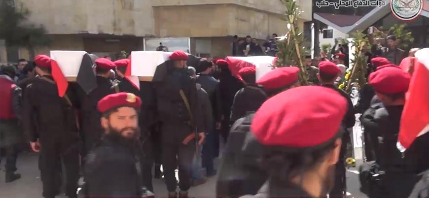Türk hava saldırılarında ölen Şii milislerin cenazeleri Halep'e ulaştı