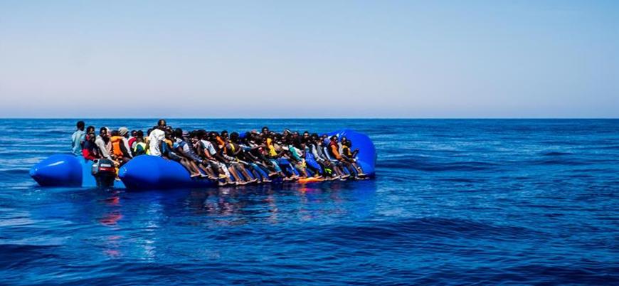 Libya açıklarında 119 kaçak göçmen kurtarıldı