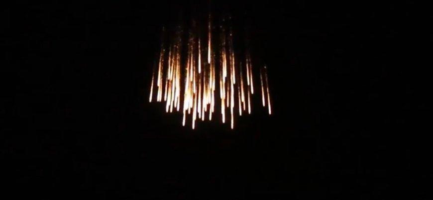 Rus uçaklarının Guta'yı fosfor bombalarıyla vurduğu anlar böyle görüntülendi