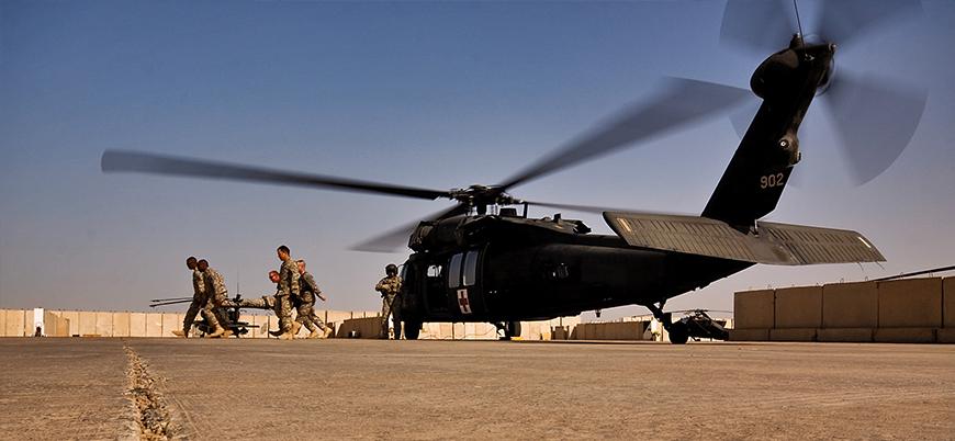 Irak'ın batısında ABD askerlerini taşıyan helikopter düştü