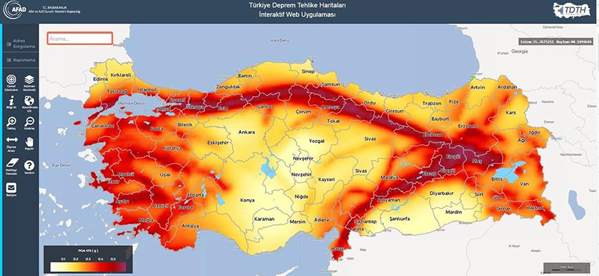 İnteraktif deprem risk haritası hizmeti başladı, AFAD'ın internet sitesi çöktü