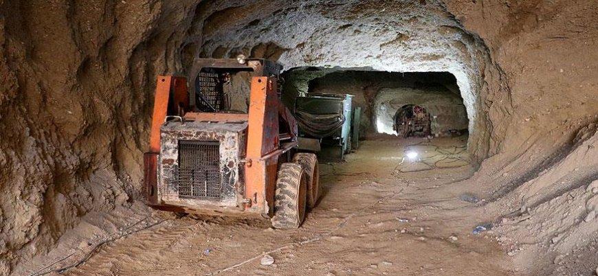 PKK'nın Afrin merkezindeki tünelleri görüntülendi