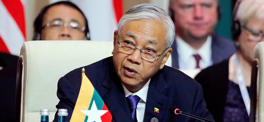 Myanmar'da devlet başkanı görevi bıraktı