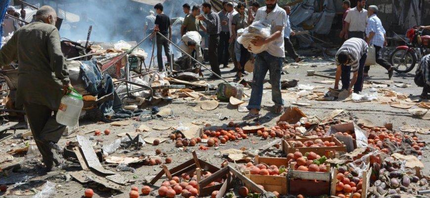 Rus uçakları İdlib'in güneyinde pazar yerini vurdu