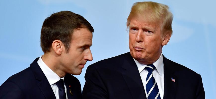 Trump ve Macron Suriye'de kimyasal saldırıyı görüştü