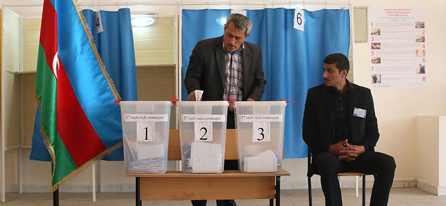 Azerbaycan halkı cumhurbaşkanlığı seçimleri için sandık başında