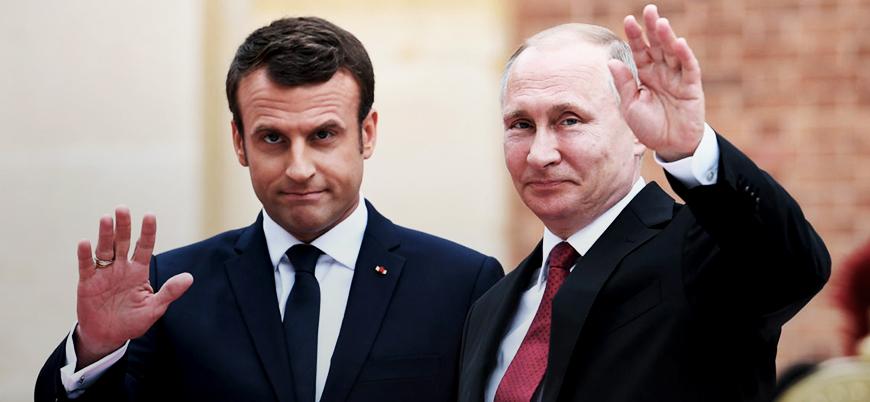 Macron ve Putin Suriye'yi görüştü