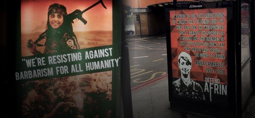 İngiltere sokaklarında YPG propagandası