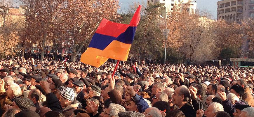 Ermenistan'da Sarkisyan karşıtı gösteriler devam ediyor