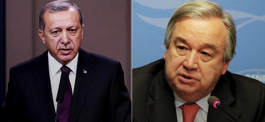 Erdoğan ile Guterres Suriye ve Filistin'i görüştü