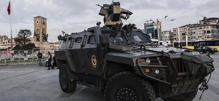Taksim'de 1 Mayıs öncesi güvenlik önlemleri alınmaya başlandı