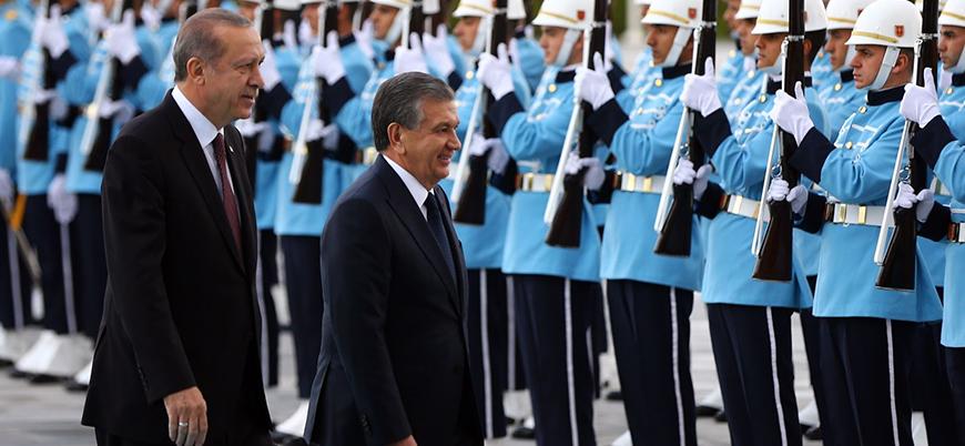 Erdoğan, Bakanlar ve Diyanet İşleri Başkanı ile Özbekistan'da