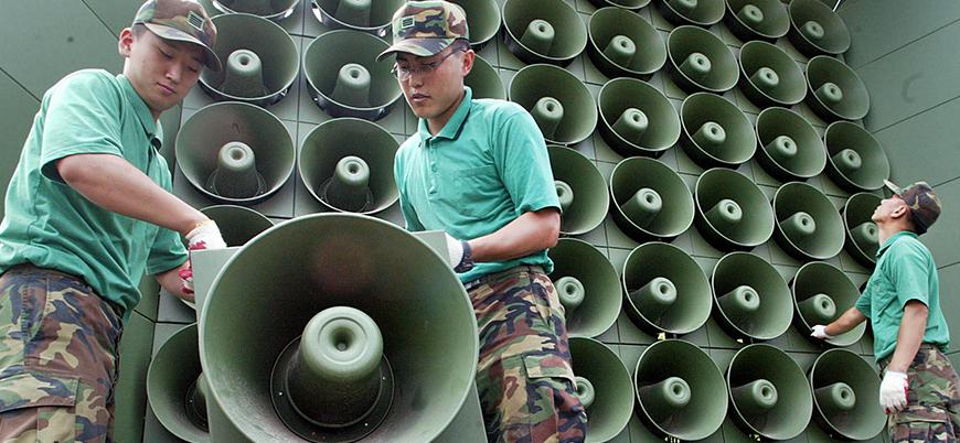 Kuzey Kore propaganda hoparlörlerini kaldırıyor